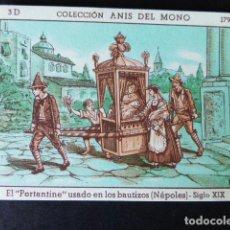 Coleccionismo Cromos antiguos: CROMO ANIS DEL MONO LA LOCOMOCION TERRESTRE A TRAVES DE LOS TIEMPOS SERIE D 179. Lote 287036758