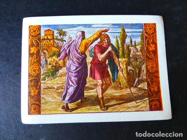 CROMO HISTORIA SAGRADA LLUIS GILI BARCELONA (Coleccionismo - Cromos y Álbumes - Cromos Antiguos)