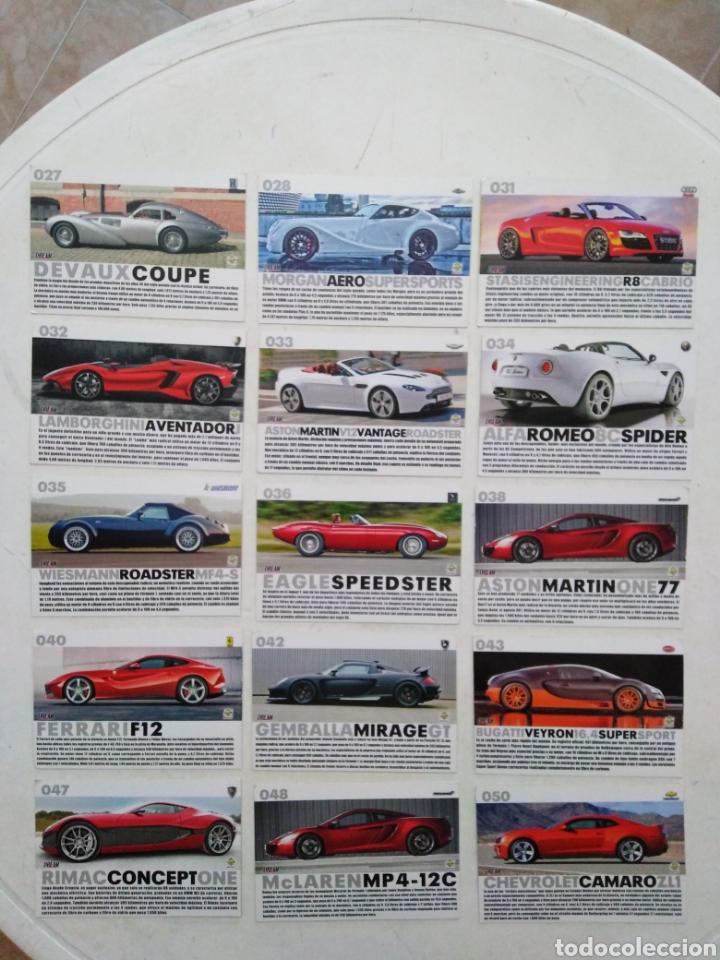 Coleccionismo Cromos antiguos: Lote de 103 CROMOS TOP CARS MC SPORT ( todos diferentes ) 12.50 X 8.50 cm - Foto 3 - 287544828