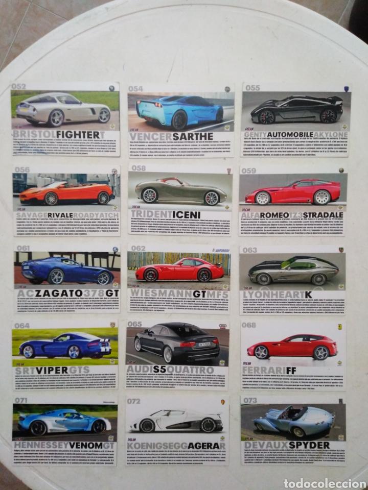 Coleccionismo Cromos antiguos: Lote de 103 CROMOS TOP CARS MC SPORT ( todos diferentes ) 12.50 X 8.50 cm - Foto 4 - 287544828