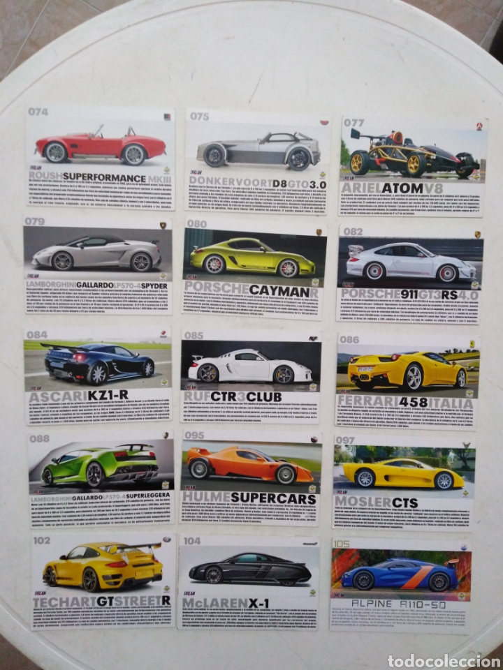 Coleccionismo Cromos antiguos: Lote de 103 CROMOS TOP CARS MC SPORT ( todos diferentes ) 12.50 X 8.50 cm - Foto 5 - 287544828