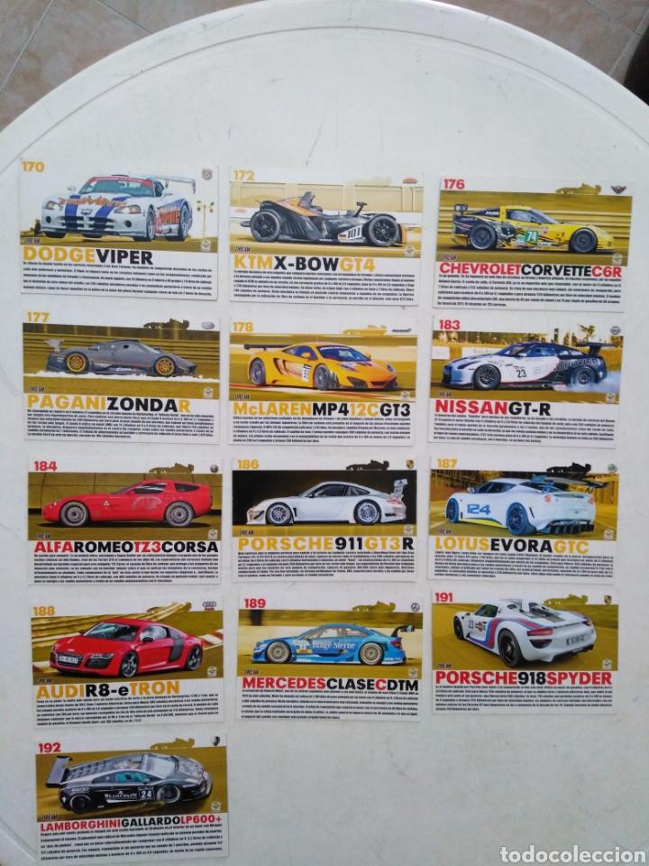 Coleccionismo Cromos antiguos: Lote de 103 CROMOS TOP CARS MC SPORT ( todos diferentes ) 12.50 X 8.50 cm - Foto 8 - 287544828