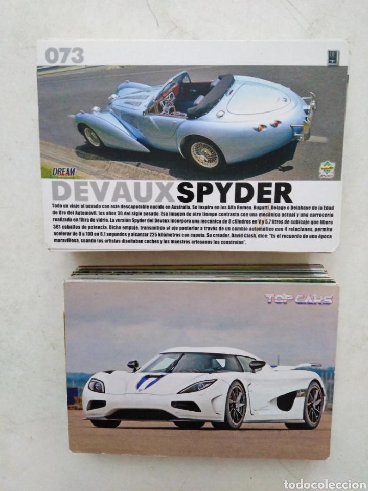 LOTE DE 103 CROMOS TOP CARS MC SPORT ( TODOS DIFERENTES ) 12.50 X 8.50 CM (Coleccionismo - Cromos y Álbumes - Cromos Antiguos)