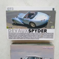 Coleccionismo Cromos antiguos: LOTE DE 103 CROMOS TOP CARS MC SPORT ( TODOS DIFERENTES ) 12.50 X 8.50 CM. Lote 287544828