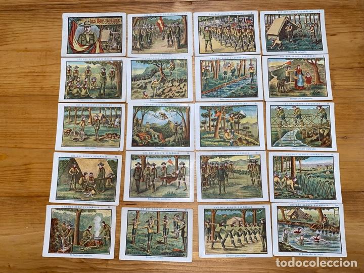 COLECCIÓN COMPLETA DE 20 CROMOS LOS BOY SCOUTS ESPAÑOLES (Coleccionismo - Cromos y Álbumes - Cromos Antiguos)