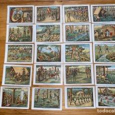 Coleccionismo Cromos antiguos: COLECCIÓN COMPLETA DE 20 CROMOS LOS BOY SCOUTS ESPAÑOLES. Lote 287712103