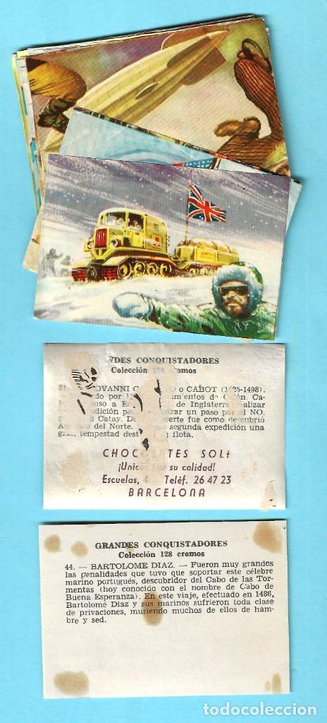 Coleccionismo Cromos antiguos: LOTE DE CROMOS. CROMOS SUELTOS; 0,60 €. GRANDES CONQUISTADORES. FERMA, CHOCOLATES SOLÉ, 1960. - Foto 2 - 287875998