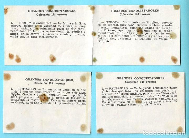 Coleccionismo Cromos antiguos: LOTE DE CROMOS. CROMOS SUELTOS; 0,60 €. GRANDES CONQUISTADORES. FERMA, CHOCOLATES SOLÉ, 1960. - Foto 4 - 287875998