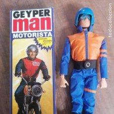 Coleccionismo Cromos antiguos: GEYPERMAN GEYPER MAN MOTORISTA REF 7012 REEDICION EN CAJA MOTO ALFREEDOM. Lote 287909208