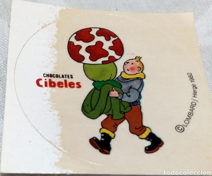 CROMO TINTÍN CHOCOLATE CIBELES (Coleccionismo - Cromos y Álbumes - Cromos Antiguos)