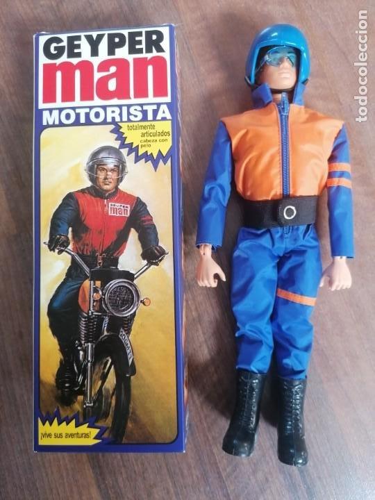 GEYPERMAN GEYPER MAN MOTORISTA REF 7012 REEDICION EN CAJA MOTO ALFREEDOM (Coleccionismo - Cromos y Álbumes - Cromos Antiguos)
