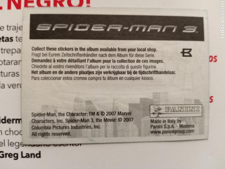 Coleccionismo Cromos antiguos: Cromo Spiderman 3 B - Foto 2 - 288488078