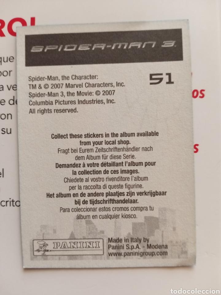 Coleccionismo Cromos antiguos: Cromo Spiderman 3 n° 51 - Foto 2 - 288488913