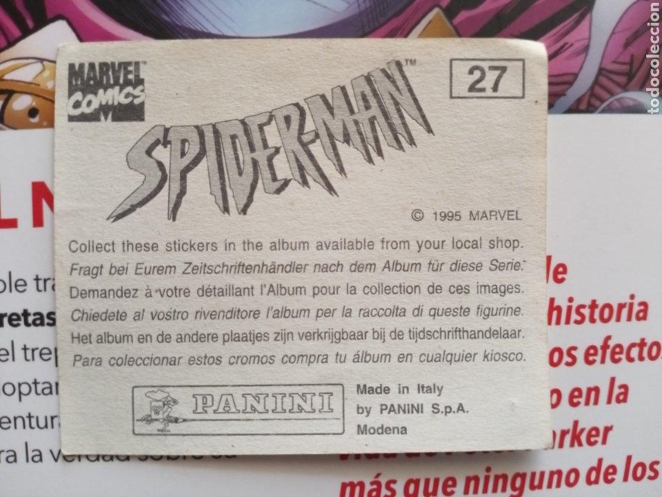 Coleccionismo Cromos antiguos: Cromo Spiderman 27 - Foto 2 - 288490728