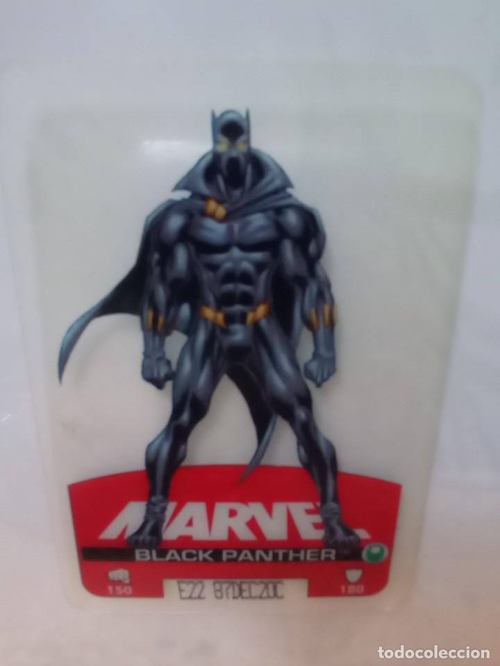 LAMINCARDS HEROES MARVEL Nº 003 BLACK PANTER (Coleccionismo - Cromos y Álbumes - Cromos Antiguos)
