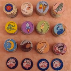 Coleccionismo Cromos antiguos: LOTE TAZOS SUPER CAPS AÑO 1995 RARO ANTIGUO VINTAGE 200 TAZOS. Lote 288035763