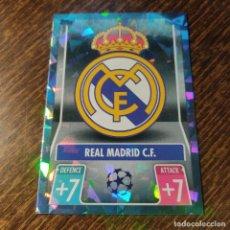 Colecionismo Cromos antigos: MATCH ATTAX UEFA CHAMPIONS LEAGUE 2021/22. CRYSTAL 226 ESCUDO REAL MADRID. EDITORIAL TOPPS. Lote 292279008