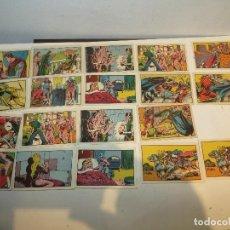 Coleccionismo Cromos antiguos: GUERRERO DEL ANTIFAZ LOTE DE 19 CROMOS AÑOS 40 NUNCA PEGADOS,BARATOS. Lote 294036933