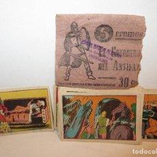 Coleccionismo Cromos antiguos: GUERRERO DEL ANTIFAZ SERIE 3 COMPLETA DE 72 CROMOS AÑOS 40 NUNCA PEGADOS ,BARATOS. Lote 294037148