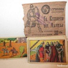 Coleccionismo Cromos antiguos: GUERRERO DEL ANTIFAZ SERIE 4 SOLO FALTA EL 47 DE 72 CROMOS AÑOS 40 NUNCA PEGADOS ,BARATOS. Lote 294037248