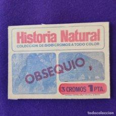 Coleccionismo Cromos antiguos: ANTIGUO SOBRE DE CROMOS VACIO. DEL ALBUM HISTORIA NATURAL. OBSEQUIO. EDITORIAL BRUGUERA. 1967.. Lote 295361843