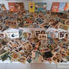 Coleccionismo Cromos antiguos: IMPORTANTE LOTE DE MAS DE 1500 CROMOS ANTIGUOS A CLASIFICAR, ALBUM CROMOS Y CALENDARIO FUTBOL 1956. Lote 295407598