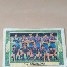 Coleccionismo Cromos antiguos: CROMO ALINEACIÓN F.C. BARCELONA CON MARADONA LIGA ESTE 1984 1985 SIN PEGAR 84 85. Lote 296614363