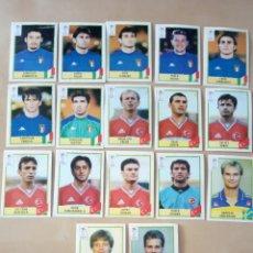 Coleccionismo Cromos antiguos: LOTE DE 17 CROMOS EURO 2000 HOLANDA BÉLGICA PANINI SIN PEGAR. Lote 296614713