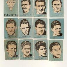 Cromos de Fútbol: 12 CROMOS FUTBOL - PLUS ULTRA - CHOCOLATES EL LINCE Y MADAM - AÑO 1951.........COMPLETO. Lote 20721310
