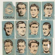 Cromos de Fútbol: 15 CROMOS FUTBOL - R.C.D. CORUÑA - CHOCOLATES EL LINCE Y MADAM - AÑO 1951. Lote 20721305