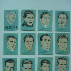 Cromos de Fútbol: 12 CROMOS FUTBOL - OSASUNA C.A. - CHOCOLATES EL LINCE Y MADAM - AÑO 1951........COMPLETO. Lote 20721322