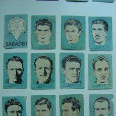 Cromos de Fútbol: 12 CROMOS FUTBOL - C.D. SABADELL - CHOCOLATES EL LINCE Y MADAM - AÑO 1951...........COMPLETO. Lote 20721308
