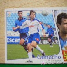 Cromos de Fútbol: CROMO DE CAMACHO // REAL ZARAGOZA // LIGA 2004 - 2005 // EDICIONES ESTE. . Lote 5907817