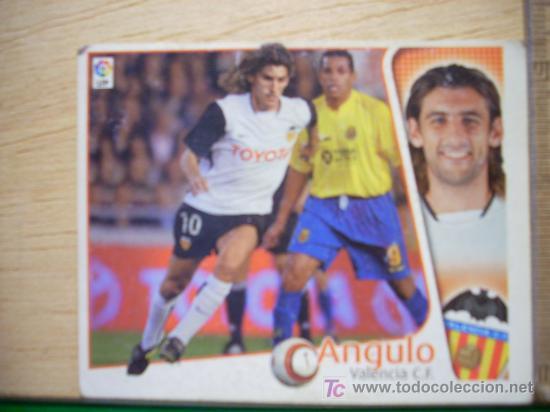 CROMO DE ANGULO // VALENCIA CF // LIGA 2004 - 2005 // EDICIONES ESTE. (Coleccionismo Deportivo - Álbumes y Cromos de Deportes - Cromos de Fútbol)