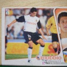 Cromos de Fútbol: CROMO DE CANOBBIO // VALENCIA CF // LIGA 2004 - 2005 // EDICIONES ESTE. . Lote 5909053