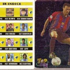Cromos de Fútbol: 2 TRADING-CARDS DE LA LIGA 2003. LUIS ENRIQUE DEL BARÇA E ÍNDICE DE LA COLECCIÓN (352 A 375).. Lote 8358360