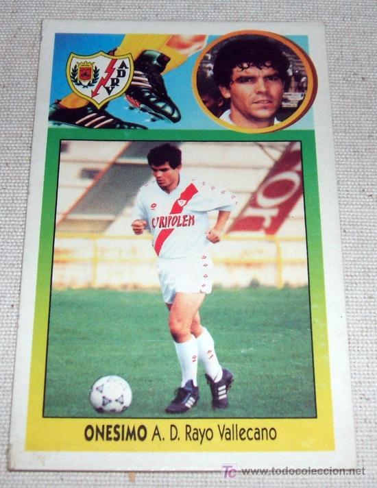 ANTIGUO CROMO DE ONESIMO - RAYO VALLECANO - LIGA 93-94 (Coleccionismo Deportivo - Álbumes y Cromos de Deportes - Cromos de Fútbol)
