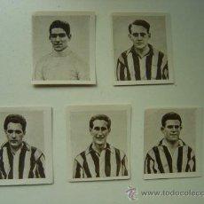 Cromos de Fútbol: 5 CROMOS FUTBOL - ATHLETIC CLUB BILBAO, AÑO 1925 - PAPEL DE FUMAR FOOT-BALL ALCOY. Lote 118791814