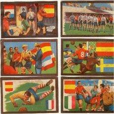 Cromos de Fútbol: (1064-F)FUTBOL CROMOS DE CHOCOLATES TUPINAMBA PARTIDOS INTERNACIONALES A 3 EUROS UD.AÑO 1950. Lote 166242848