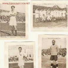 Cromos de Fútbol: (1495-F)CROMOS FUTBOL REAL MADRID CUPON PENINSULAR 1932-33 JUAGADORES A 7 EUROS LA UNIDAD. Lote 235412720