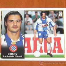 Cromos de Fútbol: R.C.D. ESPAÑOL - COBOS - BAJA - EDICIONES ESTE 1998-1999, 98-99 - NUNCA PEGADO. Lote 10893049