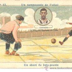 Cromos de Fútbol: CROMO UN CAMPEONATO DE FUTBOL GERMAN DEFENSA DEL SPORTING DE GIJON CHOCOLATE AMATLLER. Lote 12033167