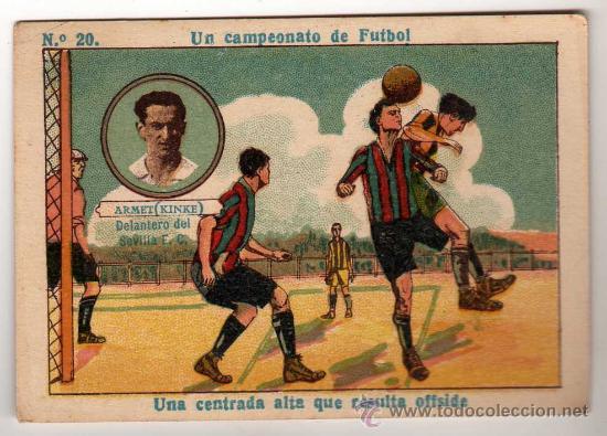 N.20 UN CAMPEONATO DE FUTBOL - ARMET ( KINKE ) DELANTERO DEL SEVILLA FC (Coleccionismo Deportivo - Álbumes y Cromos de Deportes - Cromos de Fútbol)