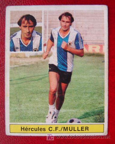MÜLLER, HERCULES - LIGA 81-82 ESTE - FICHAJE Nº 28 BIS (Coleccionismo Deportivo - Álbumes y Cromos de Deportes - Cromos de Fútbol)