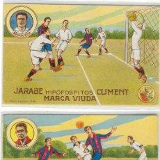 Cromos de Fútbol: (3010-F)COLECCION COMPLETA CROMOS DE FUTBOL F.C.BARCELONA AÑOS 20 JARABE HIPOFOS.CLIMENT(14 X 9 CM.). Lote 14455437