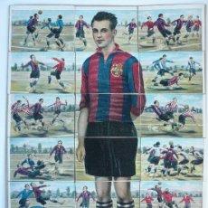 Cromos de Fútbol: 18 CROMOS FUTBOL CLUB BARCELONA - JOSE SAMITIER- Nº 37 AL 54 CHOCOLATES JAIME BOIX. Lote 27316735