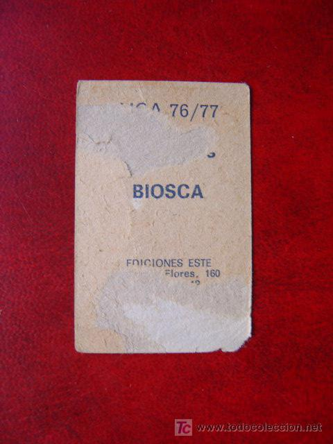 Cromos de Fútbol: BIOSCA - REAL BETIS - EDICIONES ESTE 76-77 - 1976-1977 - Foto 2 - 15462980