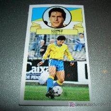 Cromos de Fútbol: CROMO BAJA LOPEZ CADIZ CROMOS ALBUM EDICIONES ESTE LIGA FUTBOL 1985-1986 85-86 . Lote 16104823