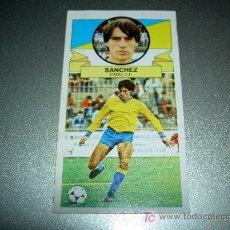 Cromos de Fútbol: CROMO SANCHEZ CADIZ CROMOS ALBUM EDICIONES ESTE LIGA FUTBOL 1985-1986 85-86 . Lote 16251841