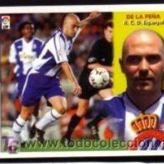 Cromos de Fútbol: EDICIONES ESTE 2002/2003 - DE LA PEÑA ( COLOCA-VERSIÓN A ) - R.C.D. ESPANYOL. ALBUM ESTE 02/03 ( ). Lote 99182610